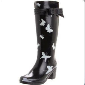 🌸HP🌸Kate Spade Butterfly Rain Boots